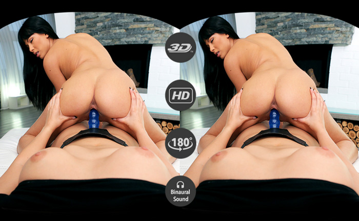 image Badoink vr strapon lesbian action with julia and kitty