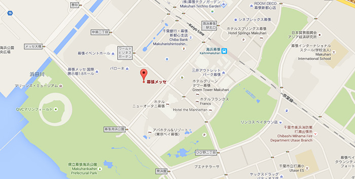 makuhari-messe-on-google-maps